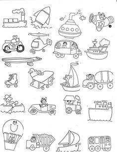 Actividad infantil: los medios de transporte.: