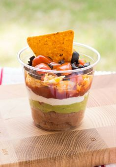 For appetizer table -Mini 7 Layer Dips » The Table