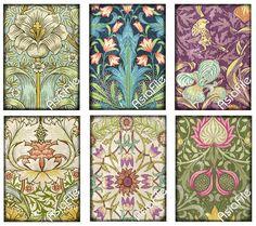 Digitale Collage vellen 4 vellen ACEO Art door DigitalArtMart