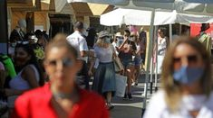 Panama hats and designer sunglasses, champagne buckets and luxury cars: in the mountain resort town of Faqra, Lebanon's economic crisis is not immediately obvious...