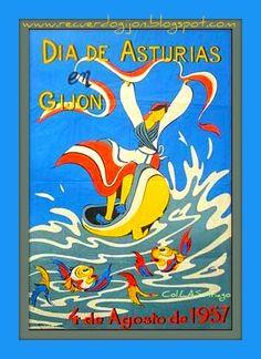 Día de Asturias en Gijón en 1957