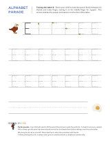 Uppercase E letter tracing worksheet, with easy-to-follow arrows showing the proper formation of the letter.