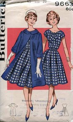 Late 1950s matching coat and dress ensemble 50er Jahre, Kleider, 1950er Jahre  Kleider Muster aaa88c870e