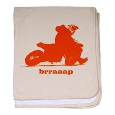 Amazon.com: ktm orange brraaap supermoto baby blanket by CafePress - Petal Pink: Home & Kitchen
