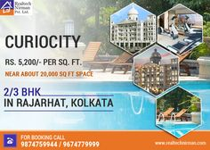 Curio city offers luxurious and pampered living in the heart of Rajarhat! Bookings now open. Hurry up!  #ResidentialFlat #Curiocity #Kolkata