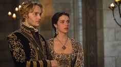 """Reign -- """"Extreme Measures"""" -- Image Number: -- Pictured (L-R): Toby Regbo as King Francis II and Adelaide Kane as Mary, Queen of Scotland and France -- Photo: Ben Mark Holzberg/The CW -- © 2015 The CW Network, LLC. All rights reserved. King Francis Of France, Reign Mary And Francis, Reign Fashion, Fashion Tv, Mary Queen Of Scots, Queen Mary, Red Queen, Reign Season 3, Adelaine Kane"""