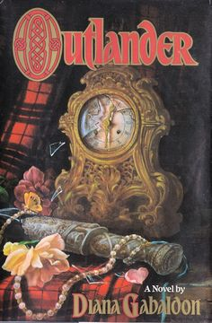 Outlander, this is the original cover jacket by Diana Gabaldon