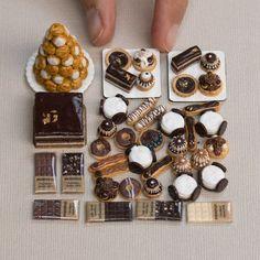 Miniature Food Auctions on Instagram Pâtisserie au Chocolat, Miniature Food Sculptures, Stéphanie Kilgast