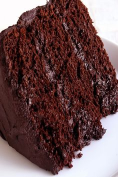 The Most Amazing Chocolate Cake is here. I call this my Matilda Cake because I swear it's just as good as the cake that Bruce Bogtrotter ate in Matilda. This is the chocolate cake you've been dreaming of! Classic Chocolate Cake Recipe, Keto Chocolate Cake, Best Chocolate, Chocolate Desserts, Delicious Chocolate, Healthy Dessert Recipes, Easy Desserts, Delicious Desserts, Cake Recipes
