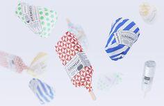 Gorky Park ice cream / designed by Anastasia Genkina. via it's nice that #branding #packaging #icecream