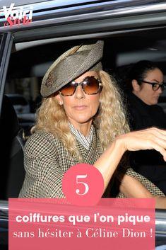 Retrouvez l'article sur voici.fr Celine Dion, Curly Hair, Top Knot, Pique, Hairstyle, Fashion Styles