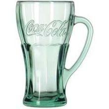 Libbey Coca-Cola oz Green Glass Handle Mug Coca Cola Glasses, Tea Glasses, Spirit Glasses, Old Fashioned Ice Cream, German Beer Mug, Ice Cream Dishes, Dessert Glasses, Glass Beer Mugs, Green Mugs