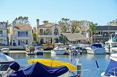 Balboa Island summer houses in Newport Beach, California
