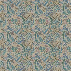 Cueillette by Christian Lacroix - Blue/ Gold - Wallpaper : Wallpaper Direct Metallic Gold, Blue Gold, Blue And White, Christian Lacroix Wallpaper, Blue And Gold Wallpaper, Wall Candy, Wall Wallpaper, Shades Of Blue, Slipcovers