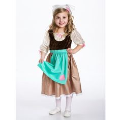 Cinderella Day Dress with Head Scarf (Large)