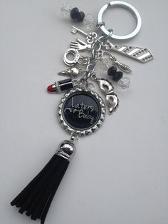 Fifty Shades of Grey Inspired Bottle Cap Keychain with Flogger from Bella Beads · Storenvy