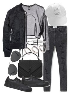 """""""Untitled #20303"""" by florencia95 ❤ liked on Polyvore featuring MANGO, Yves Saint Laurent, Nicopanda, ASOS, adidas Originals and Michael Kors"""
