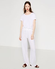 Image 1 of BASIC LINEN TROUSERS from Zara