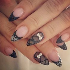 Instagram photo by salongbelovely Stiletto Shaped Nails, Coffin Shape Nails, Sexy Nail Art, Sexy Nails, Great Nails, Cute Nails, Sharp Nails, Cute Nail Designs, Pedi