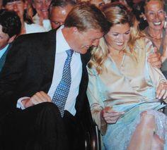 Willem-Alexander is trots op Maxima's eerste toespraak (uitreiking appeltjes van oranje)