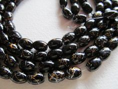 Oval glass beads strands of beads beading supplies by beaderbeads, $3.00