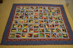 Crumb Block Quilt, what a great way to use up those scraps!