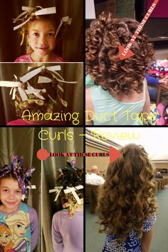 Does your little girl want curls like these? We tried Duct tape curls and found ways to make it work better. Come find out how to get curls that rock your girls world.