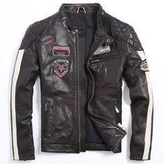 Men's Motorcycle Jacket Men's Leather Jacket