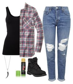 """""""Jo Harvelle"""" by princess-of-trenzalore ❤ liked on Polyvore featuring Theory, J.Crew, Topshop, Timberland, Glo Minerals and Shaun Leane"""