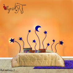 Cabeceros de forja http://virginiart.es  Este cabecero de cama nos transporta a las estrelladas noches de verano, generando un espacio armonioso y conectado con la naturaleza. *Tenemos la opción de ponerle luz en las estrellas laterales y la luna*     Pídenos información sobre medidas y acabados.