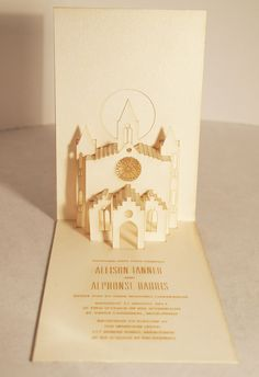 RSVP | Laser Cut Invitations from Melbourne Laser Cutter...popup chapel, thats cool