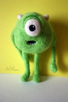Felting - Mike Wazowski Monsters Inc.