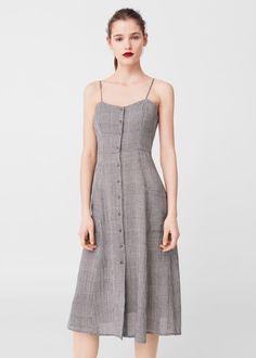 Check pattern midi dress - f foMidi Woman Simple Dresses, Cute Dresses, Vintage Dresses, Casual Dresses, Summer Dresses, The Dress, Dress Skirt, Mode Rock, Rajputi Dress