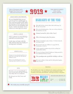 40 best christmas newsletter and year in review templates images on year in review christmas letter template in pdf for adobe reader this newsletter spiritdancerdesigns Images