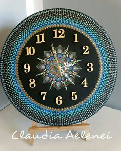 """""""The Mandala is a map for spiritual transformation"""" Hand painted on wood wall clock Clock Painting, Clock Art, Dot Art Painting, Diy Clock, Painting On Wood, Clocks, Mandala Art, Mandala Rocks, Mandala Painting"""
