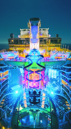 Harmony of the Seas Forget star gazing. Experience the bright nights and adventure lights on the world's biggest ship, brought to you exclusively by Royal Caribbean, and set to dock in the USA for the first time on November Best Family Cruise Ships, Best Family Cruises, Best Family Vacations, Best Cruise, Cruise Tips, Cruise Travel, Cruise Vacation, Dream Vacations, Vacation Spots