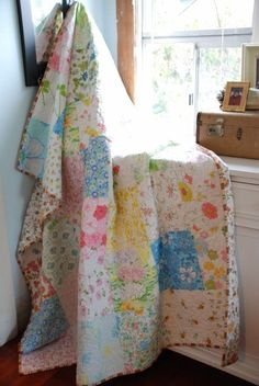 Anyone Can Quilt: Summery stitching in the rain.