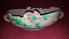 Vintage Roseville 339-12 Poppy Console Large Bowl Beautiful Art Pottery by TimelessArtLLC on Etsy