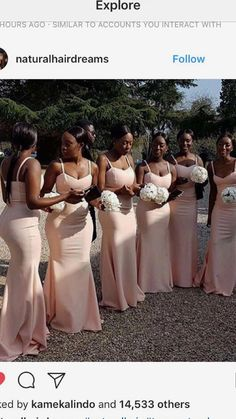 Bridesmaid dresses - Weddings Truly unique yet excellent wedding tips simple wedding ideas elegant romantic ideas shared on this date 20190313 wedding reference 5274401683 weddings weddingideas simpleweddingideasele Bridesmaid Dress Colors, Wedding Bridesmaid Dresses, Dream Wedding Dresses, Wedding Attire, Wedding Gowns, Black Bridesmaids, Bridal Dresses, Prom Dresses, African American Weddings