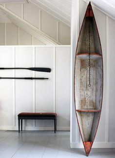 Oars as decor; boathouse style; Remodelista