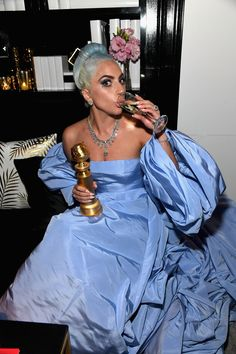 Lady Gaga attends the 2019 InStyle and Warner Bros. Annual Golden Globe Awards Post-Party at The Beverly Hilton Hotel on January 2019 in Beverly Hills, California. Get premium, high resolution news photos at Getty Images Golden Globes After Party, Golden Globe Award, Divas, Lady Gaga Outfits, Lady Gaga Joanne, Lady Gaga Pictures, A Star Is Born, Celine Dion, Actresses