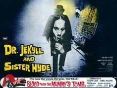 Dr Jekyll and Sister Hyde quad movie poster