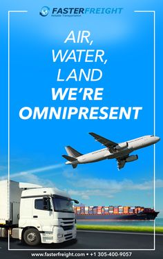 We offer freight forwarding services via air, water, and land. Choose what suits you best. Company Banner, Freight Forwarder, Top Air, Transportation, Aircraft, Water, Suits, Ideas, Organization