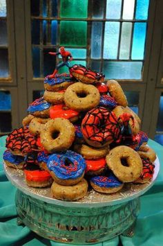 Spiderman donut tower!