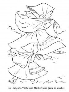 hungary coloring pages