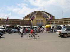 Art Deco style central market in Phnom Phen.