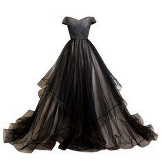 Amazon.com: LYNBRIDAL Women Black Evening Dress Ball Gown Tulle Long Prom Dresses (US2, Black): Clothing