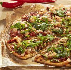 Pikante pizza met garnalen | Colruyt