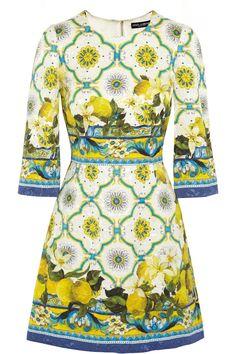 Dolce & Gabbana Printed jacquard mini dress NET-A-PORTER.COM