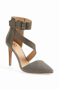 An oversized buckle and exposed side zip toughen up a sophisticated pump with a flattering asymmetrical strap and a mixed-finish construction.  Joe's Ankle Strap Pumps (ON SALE!) - Nordstrom Anniversary Sale #NSale